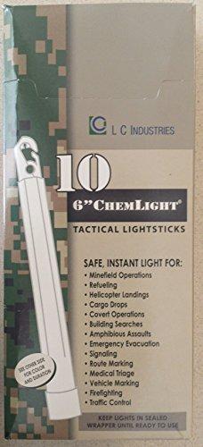 10-Pack-Cyalume-Light-sticks-9-01360PF-NSN-6260-01-196-0136-6-in-ChemLight-Yellow-12-Hours-Military-Grade