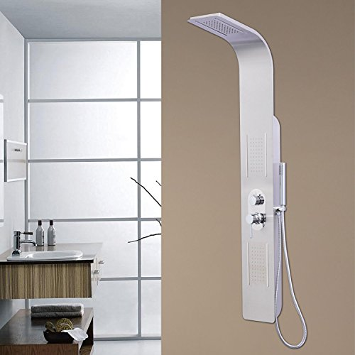 New MTN-G Waterfall Massage Shower Tower Panel Thermostatic Stainless Steel Hand Spayer MTN Gearsmith