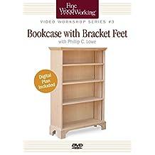 Bookcase with Bracket Feet