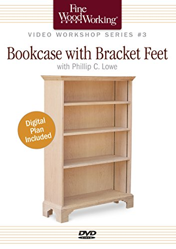 Fine Woodworking Video Workshop Series - Bookcase with Bracket Feet by Taunton Press