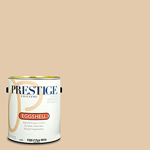 Prestige Paints P300-P-SW6113 Interior Paint and Primer in One, 1-Gallon, Eggshell, Comparable Match of Sherwin Williams Interactive Cream, 1 Gallon, SW113-Interactive