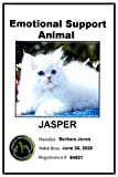 Emotional Support Animal ID Card (''A'' rating from Better Business Bureau) for Dog, Cat, Pig, Rabbit, Horse, etc.