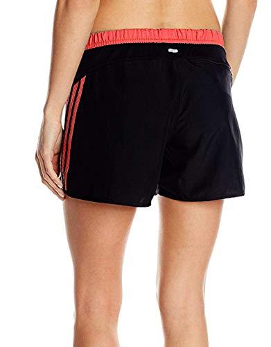 adidas Response 4 Inch Womens Climalite Running Shorts Reflective Logo Black & Bahcor - -