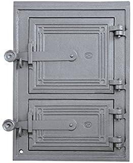 Estufa Puerta Horno de piedra para puerta del horno Puerta Madera Puerta Horno Parrilla de hierro