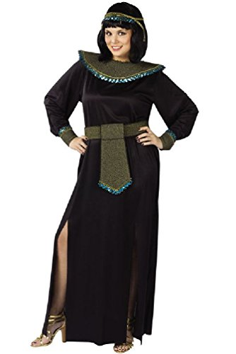[8eighteen Midnight Cleopatra Ancient Egyptian Adult Plus Size Costume] (Pharaoh Adult Mens Plus Size Costumes)