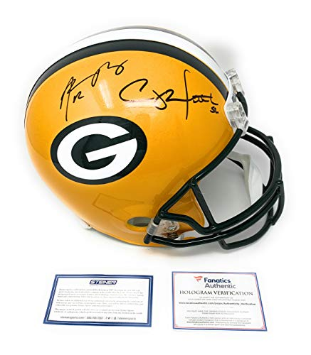 Helmet Aaron Rodgers - Aaron Rodgers Clay Matthews Green Bay Packers DUAL Signed Autograph Full Size Helmet Fanatics Authentic Steiner Sports Certified