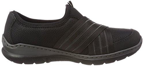 L32t0 schwarz Rieker Basses Noir schwarz Femme Sneakers schwarz schwarz dww71fqUFx