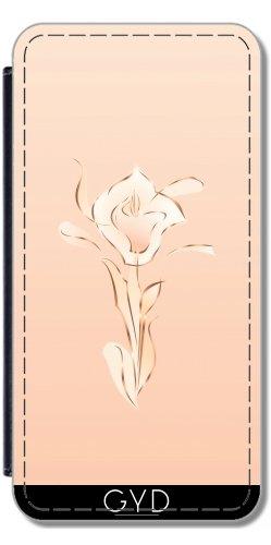 Leder Flip Case Tasche Hülle für Apple Iphone 7 / Iphone 8 - Roségold Abstrakte Lilie Erröten by Nina Baydur