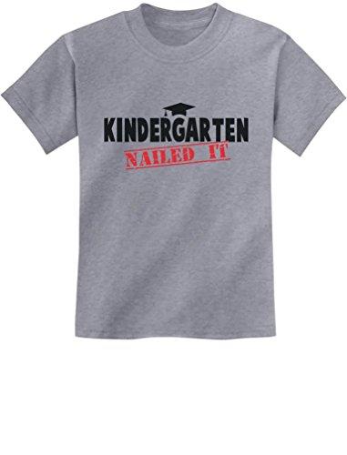 TeeStars - Kindergarten Graduate Funny Graduation Gift Idea Youth Kids T-Shirt Medium Gray ()