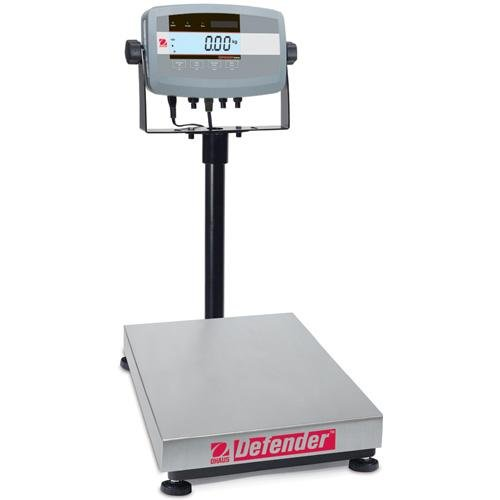 - Ohaus Bench & Floor Scales - Defender Model D51P60HR1, 150lb x 0.02lb (60kg x 0.01kg) default resolution<BR><FONT color=#0d174f>150lb x 0.05lb, 60kg x 0.02kg Certified Resolution</FONT><BR>Platform Size 12 x 14 x 3.54 in / 30.5 x 35.5 x 9.5 Cm