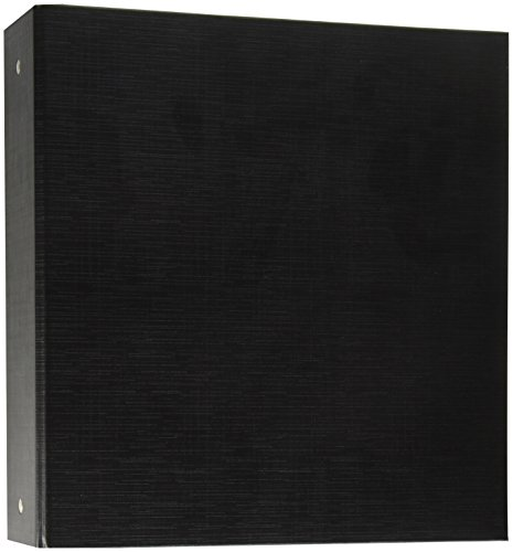 Aurora GB Elements Ultra Binder, 2 Inch Round Ring, 8 1/2 x 11 Inch Size, Black , Linen Embossed, Eco-Friendly, Recyclable, Made in USA (AUA09434)