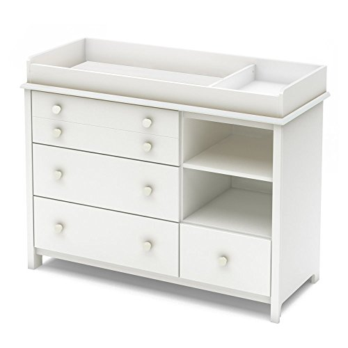 South Shore Little Smileys Changing Table with Removable Changing Station, Pure White (Changing Table Dresser White compare prices)