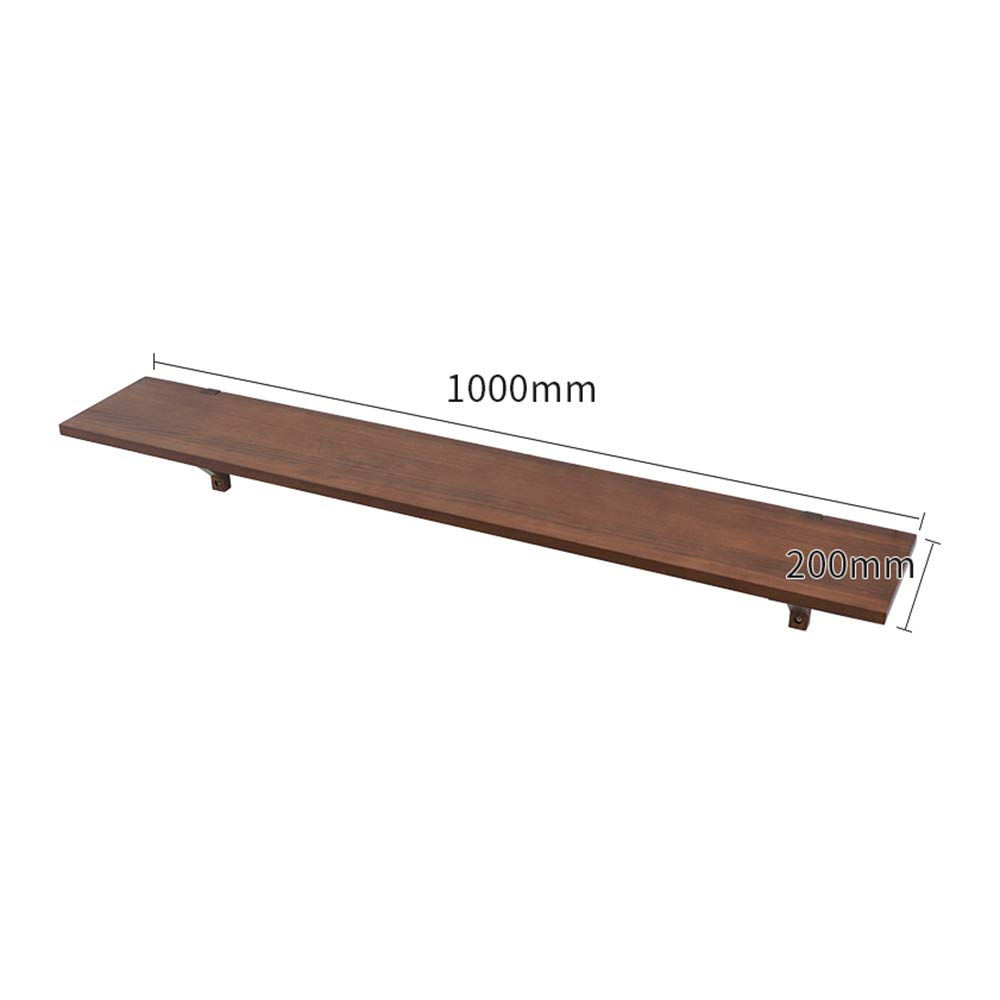2 100CM YNN Solid Wood Partition Wall Storage Shelf Set-top Box Wall Hanging Background Wall Decorative Layer (color   02, Size   120CM)
