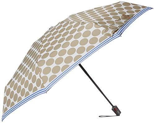 knirps-compact-auto-open-close-umbrella-recife-tan-white-dots