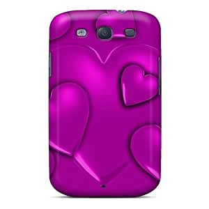 Excellent Design Hearts Of Purple Phone Case For Galaxy S3 Premium Tpu Case