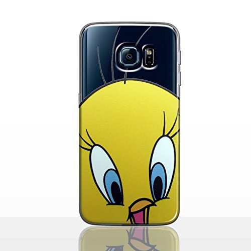 Galaxy S8 Plus Looney Tunes Silicone Phone Case/Gel Cover for Samsung Galaxy S 8 Plus (S8 Plus/G955) / Screen Protector & Cloth/iCHOOSE / Tweety