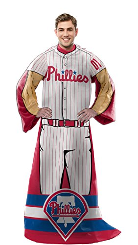 Mlb Player Phillies (MLB Philadelphia Phillies Full Body Player Adult Comfy Throw, 48
