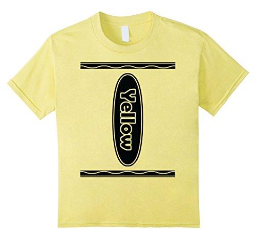 Kids Halloween Group Costume Yellow Crayon Shirt for Family 4 Lemon