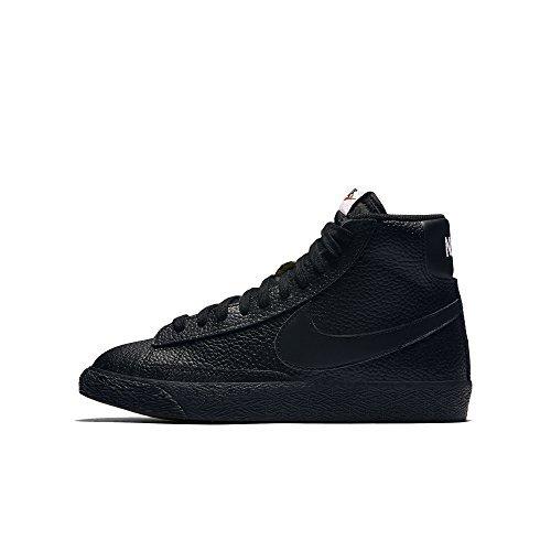 Nike Kids Blazer Mid GS, Black/White-White Size 7 US