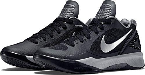 Nike Womens Volley Zoom Hyperspike Scarpe Da Pallavolo Nero / Bianco / Argento Metallizzato