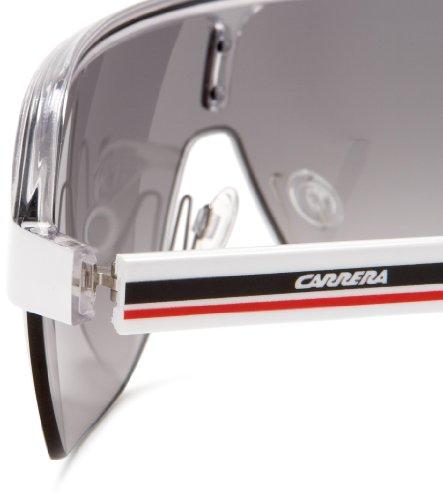 Carrera Topcar 1 Unisex Shield Sunglasses,White Crystal Black Frame Grey  Gradient Lens, 82e7fad2f4