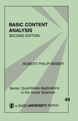 Basic Content Analysis (Quantitative Applications in the Social Sciences)