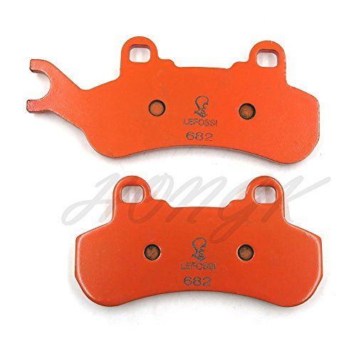 HongK- Carbon Ceramic Brake Pads for CAN-AM Defender 799cc XT Cab -FA682 -  HK-BPFA682-Orange