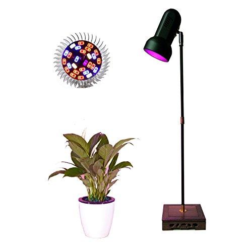 Indoor Plant Grow Light Stand Desk Floor Grow Lamp 28W LED Full Spectrum for Home Indoor Plants Veg Flower by AiHihome