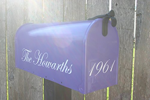 Grape Purple Painted Mailbox by TheBusBox - Choose your color Kids, Custom, Birthday, Mitzvah, -