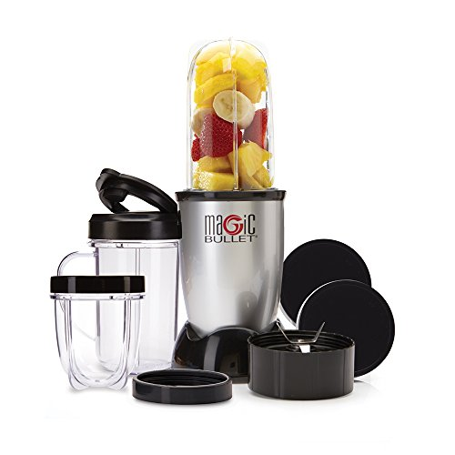 Magic Bullet Blender, Small, Silver, 11 Piece Set (Hamilton Model Kit)