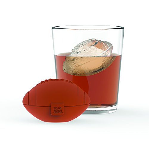 True Zoo 4225 Football Silicone Ice Mold, Brown, Set of 1