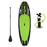 """Tower Inflatable 9'10"""" Stand Up Paddle Board - (6 Inches Thick) - Universal SUP Wide Stance - Premium SUP Bundle (Pump & Adjustable Paddle Included) - Non-Slip Deck - Youth and Adult - Adventure 1 from Tower Paddle Boards"""