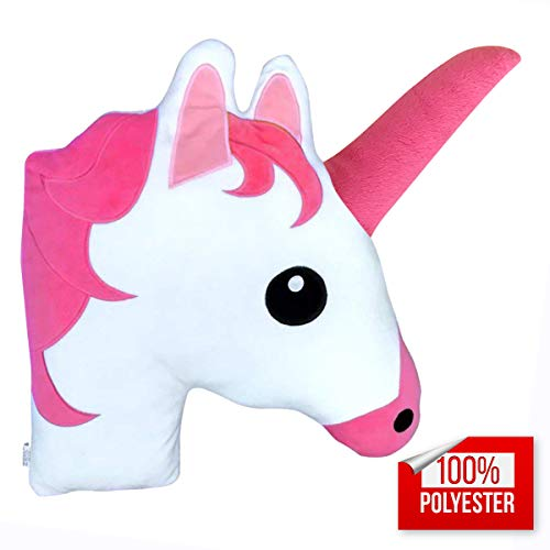 Unicorn Stuff Animal Throw Pillow, Birthday Party Supplies Favors & Emoji Plush for Couch and Home Decorations, Christmas, Holidays, Valentines Day 14