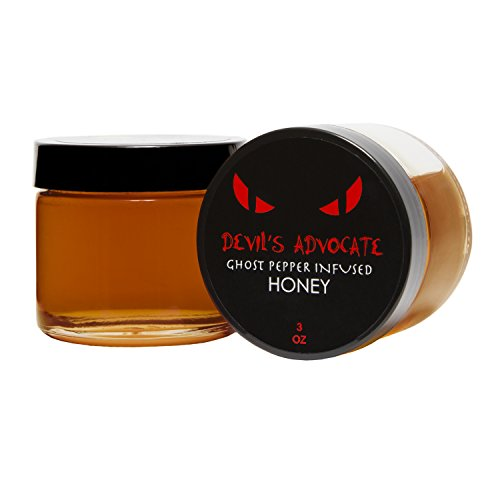 Bee Wild 100% Pure Raw Organic Unfiltered Honey Infused with Ghost Pepper, Devil 3 ounce