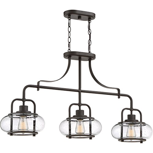 Quoizel TRG338OZ Trilogy Island Chandelier, 3-Light, 180 Watts, Old Bronze (22