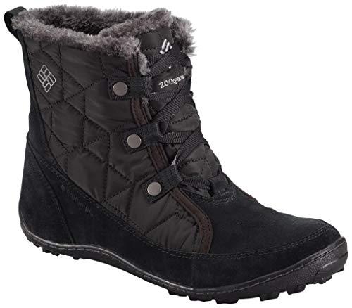 Columbia Women's Minx Shorty Omni-Heat Snow Boot, Black, Shale, 7 B US