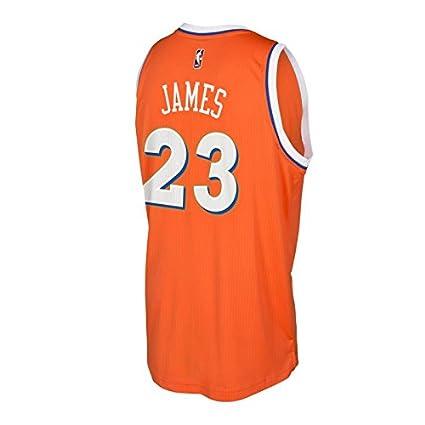 3cf5156e3aa3 LeBron James Cleveland Cavaliers Orange Hardwood Classics adidas Swingman  Jersey (3XL)