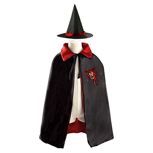 Children Five Nights at Freddy's Halloween Christmas Cloak With Hat Witch Costume (Magic Mike Halloween Outfits)