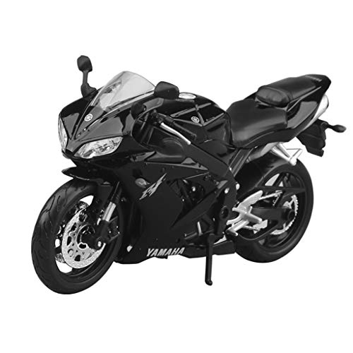 GLJJQMY Motorcycle Model 1:12 Yamaha YZF-R1 Road Locomotive Simulation Alloy Die-Casting Toy Jewelry Sports Car Collection Jewelry 17x10cm ()