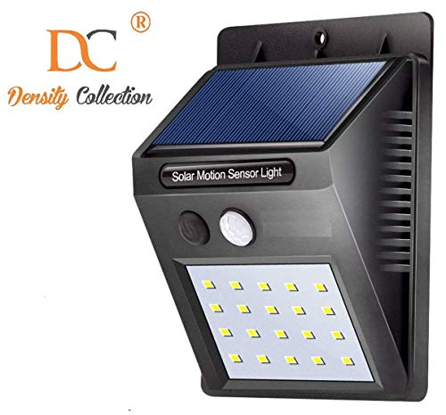 Density Collection 20 LED Bright Outdoor Security Lights with Motion Sensor (Black)