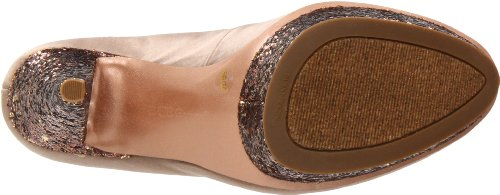 Bcbgeneration Womens Capone Platform Pump Gingersnap / Mat Bronze Satin / Party Glitter
