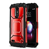 Phone Case for [LG XPRESSION Plus (AT&T)], [Alloy Series][Red] Aluminium [Metal Plate][Military Grade] Shockproof [Impact Resistant] Cover for LG Xpression Plus (AT&T Prepaid Phone)