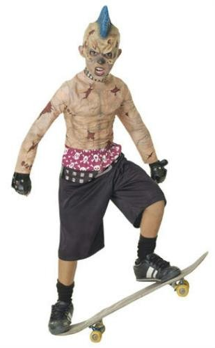 Skate Punk Zombie Costume (Zombie Skate Punk Child Costume - Medium)