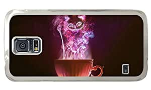 Hipster brand new Samsung Galaxy S5 Case smoke art cat PC Transparent for Samsung S5 by lolosakes