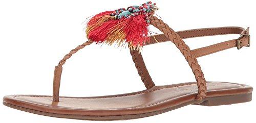 Jessica Simpson Women's Kyran Flat Sandal, Burnt Umber, 5.5 Medium US - Jessica Simpson Slingback Shoes