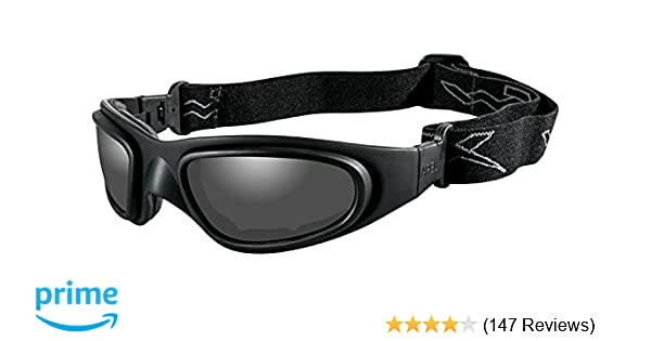 749d7d4bfcee Amazon.com: Wiley X SG-1 Goggles, Smoke Grey/Clear, V Cut/Matte Black:  Sports & Outdoors