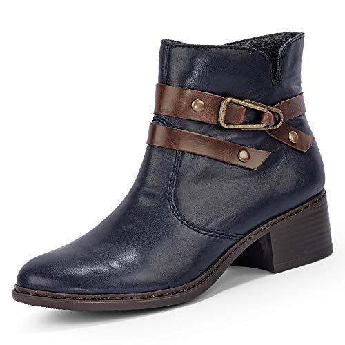 Women's 77683 Slip Rieker Blue On Boots vHPxTqf