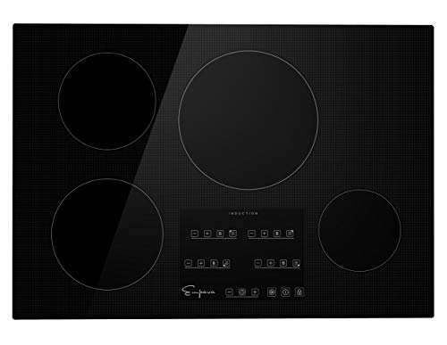 Empava IDCX30 30 Inch Electric Induction Smooth Surface with 4 Burners 240V Cooktops, Black