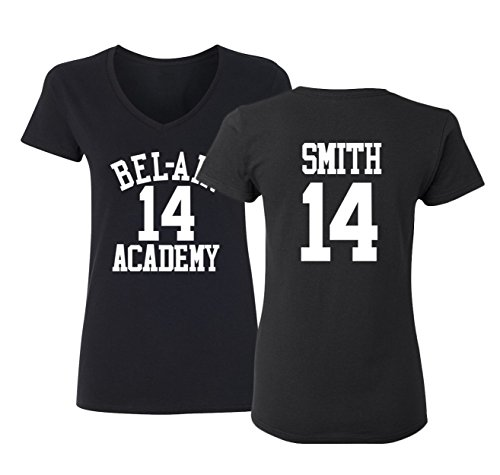 The Fresh Prince Of Bel Air Academy Will Smith Basketball Women's V-Neck T Shirt (Fresh Prince Of Bel Air Halloween)