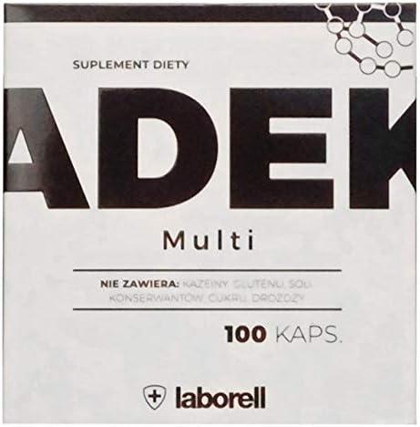 LABORELL ADEK Multi 100 Cápsulas 1 paquete Vitamina A D E K Sin caseína gluten Sal Azúcar: Amazon.es: Salud y cuidado personal